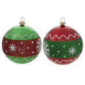 Glitter Snowflakes Ball Ornaments