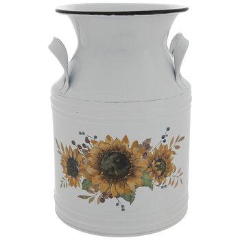 Sunflower Metal Milk Can