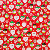 Christmas Pals & Ornaments Gift Wrap