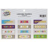 Multi-Color Patterned Calendar Headers