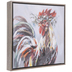 Rooster With Flower Crown Canvas Wall Decor
