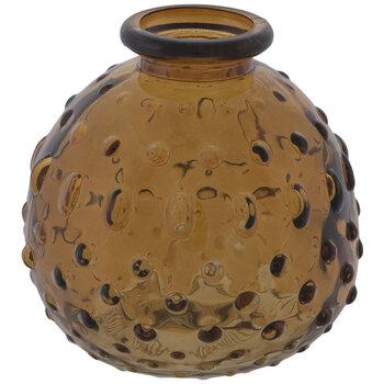 Hobnail Round Glass Vase