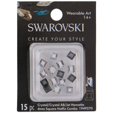 Swarovski Square Hot Fix Crystals