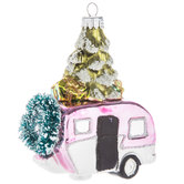 Pink Camper With Tree Ornament