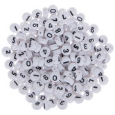 White & Black Plastic Number Beads