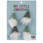Mini Green & White Gnome Ornaments