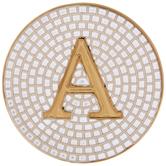 Metallic Gold Letter Coaster