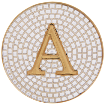 Metallic Gold Letter Coaster
