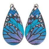 Butterfly Teardrop Pendants