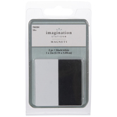 Black & White Rectangle Magnets