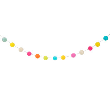 Multi-Color Felt Ball Garland