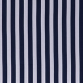 Navy & White Striped Cotton Apparel Fabric