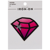 Pink Diamond Iron-On Applique