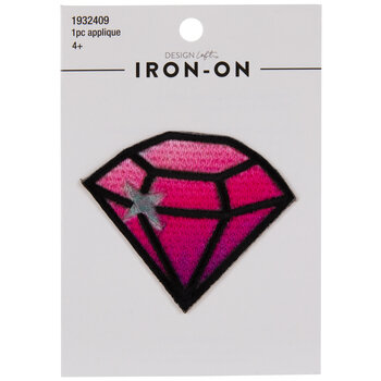 Pink Diamond Iron-On Applique