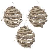 Glitter Vine Ball Ornaments