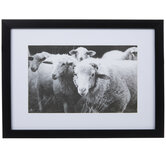 Flock Of Sheep Framed Wood Wall Decor