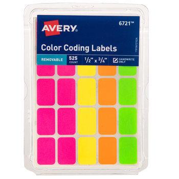 """Color Coding Labels - 1/2"""" x 3/4"""""""