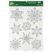 Glitter Snowflake Window Clings