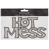 Rhinestone Hot Mess Iron-On Applique