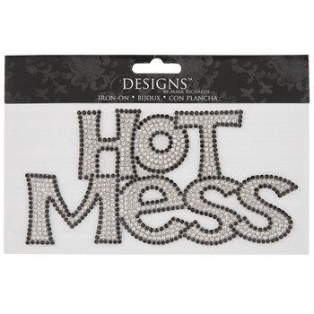 Rhinestone Hot Mess Iron-On Applique