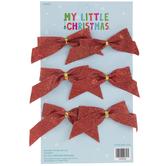 Mini Glitter Bow Ornaments