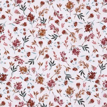 Beige & Rust Floral Apparel Fabric