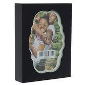 "Black & White Wood Box Frame - 2 1/2"" x 3 1/2"""