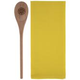 Kitchen Towel & Wood Spoon