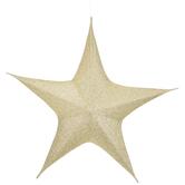 Gold Metallic Jumbo Star Wall Decor