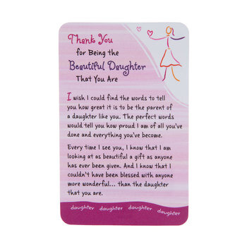 Beautiful Daughter Wallet Card