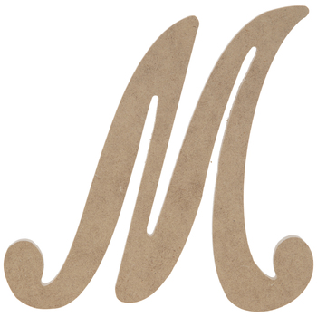 "Uppercase Script Wood Letter M - 6"""