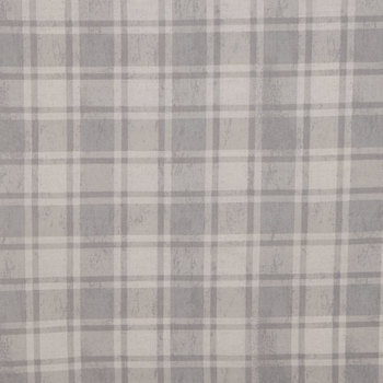 Taupe Plaid Duck Cloth Fabric