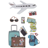 Airplane Travel 3D Stickers