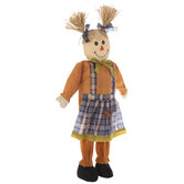 Plaid Self-Standing Scarecrow