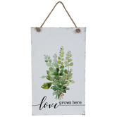 Love Grows Here Leaves Metal Wall Decor