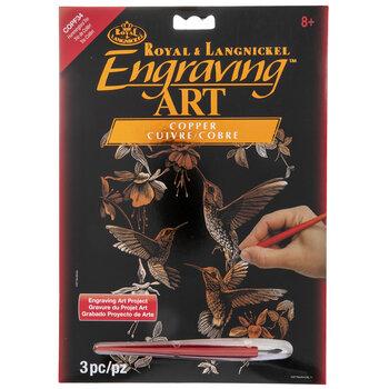 Hummingbird Trio Copper Foil Engraving Art Kit