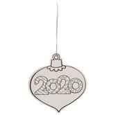 2020 Wood Ornament Craft Kit