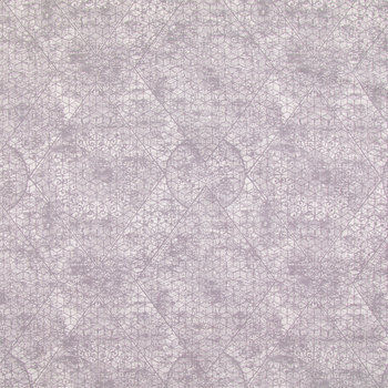 Gray Lace Medallion Cotton Calico Fabric