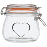 Hearts Embossed Mason Jars