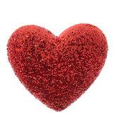Red Glitter Heart Shank Buttons