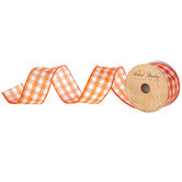 Gingham Wired Edge Ribbon - 1 1/2""