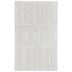 White Block Flocked Iron-On Applique Alphabet - 3