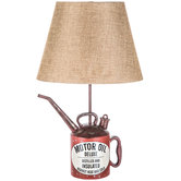Oil Can Lamp With Tan Shade