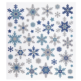 Blue Snowflakes Foil Stickers