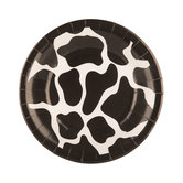 Black & White Cow Paper Plates - Small