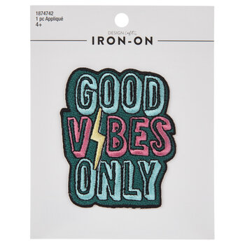 Good Vibes Only Iron-On Applique