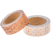 Copper Glitter & Geometric Washi Tape