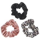 Pink, Black & Polka Dot Scrunchies