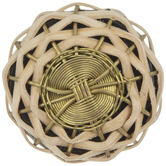 Tan Woven Straw & Metal Wire Knob