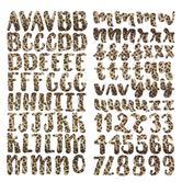 Leopard Handwritten Alphabet Stickers